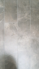 Stone effect porcelain floor Tiles - grey