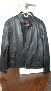 Danier Black Leather Jacket - Brand New - Size M