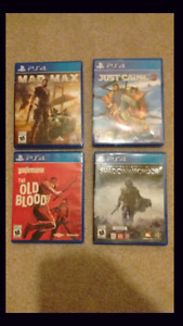 Ps4 games new mint codes not used $30 each