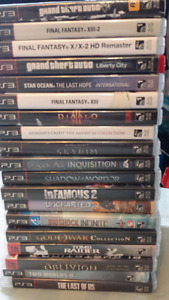 Ps3 Rpg Bundle + 19 games, controller, cords