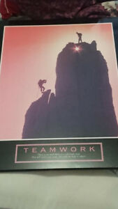 T E A M W O R K Block Mounted Picture