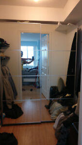 IKEA PAX Wardrobe for sale with mirrored sliding doors