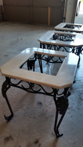4 piece marble coffee table set