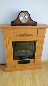 Mantle with Electric fireplace