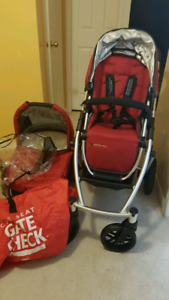 2014 uppababy vista stroller and bassinet