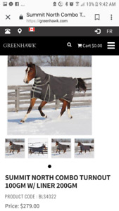 "78"" Summit North Combo horse blanket"