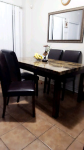 Beautiful Marble top style dining table for Sale