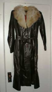 Leather 3/4 length winter lined coat - Leather Attic