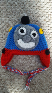 Thomas the train knitted hat