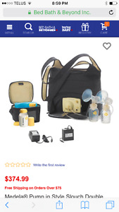 Medela double electric breast pump in style