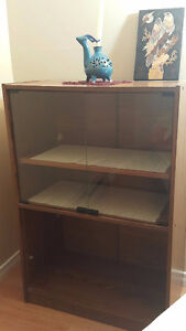 MOVING SALE_BOOK SHELF WITH GLASS DOOR