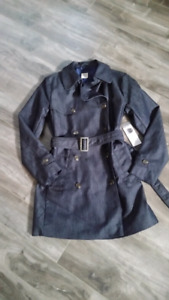 BNWT Women Gap denim trench coat size xs