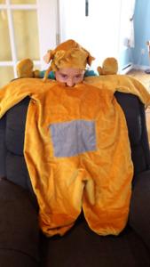 Costume d'Halloween de Teletubbies Lala grandeur 3 a 6 ans