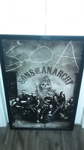 Framed sons of anarchy hard poster