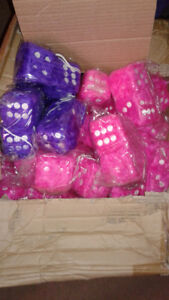 Fuzzy Dice Purple or Hot Pink