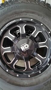 4 NEW FRD TR2 RIMS WITH HANKOOK DYNAPRO ATM LT265/75/16