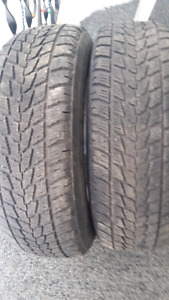 TWO  215.70.16 winter TIRES for sale