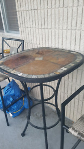 Stonetop Bistro Set. Gently used fully assembled.