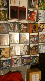 Ds xl plus 34 games 2 x carry cases for games