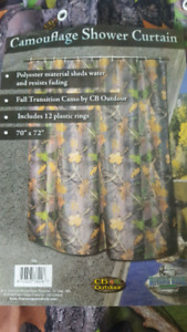 Camoflauge shower curtain