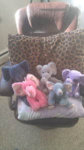 Collection of elephant stuffies for sale!