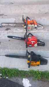 Chainsaws for sale.  All running.