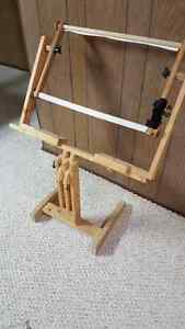 Wooden Floor Embroidery Stand