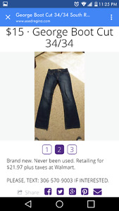 George Boot Cut Men's 34/34