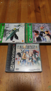 PS1 Final Fantasy VII - VIII - IX