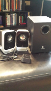 Amplified Computer Speakers with Subwoofer