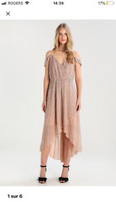 Beautiful blush/sequin dress worn once, perfect for NYE