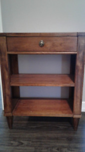 Solid Wood Shelf Cabinet with Drawer