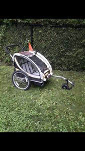 Remorque poussette à velo enALUMINIUMvalueneuf450$ bike carrier