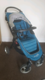Baby Jogger city mini pushchair (4 wheel version), with accessories.