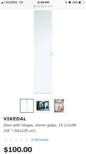 Pax Wardrobe Doors white X 3
