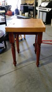 Butcher block table