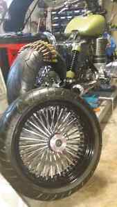 New motorcycle wheel an tire