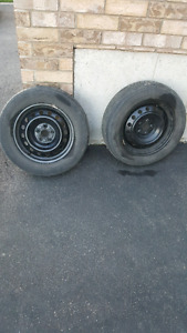 2x195-65-15 Goodyear eagle  5x100 rims,from 2011. Toyota Corolla