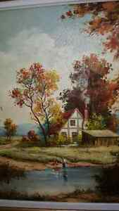 Beautiful oil on canvas landscape painting by Paul A. Bagossy West Island Greater Montréal image 3
