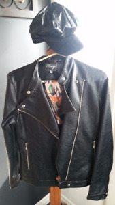 Ladies Biker Jacket & Hat