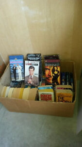 BOOKS,VHS TAPES, CASSETES