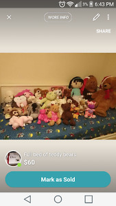 teddy bears for sale(some with tags)
