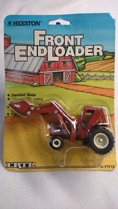 1986 HESSTON ERTL DIECAST FRONT END LOADER 1:64 REAL RUBBER TIRE