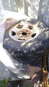 Chevy 6 bolt truck rims and winter tires London Ontario image 1