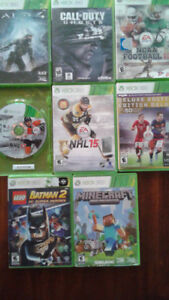 JEUX VARIES XBOX 360 10$/15$ Call of duty,lego Batman 2,Halo