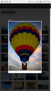 Balloon Ride for 2 people Sept 10th
