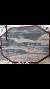 Table  Granite stone 5.5 x7.5  no cracks or chips