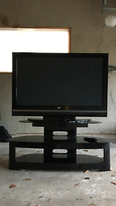 "50"" LG Plasma TV with matching stand"