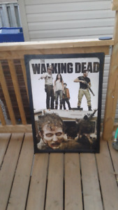 Walking dead framed picture