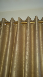 Magnificent custom made silk curtains with satin lining